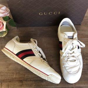 Gucci GG Web Trainer Sneakers Sport White👌